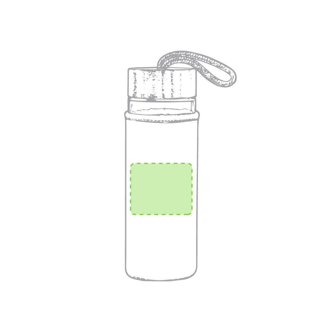 Botella de bambú con funda 2