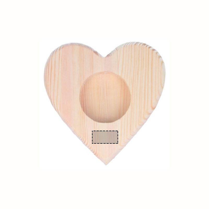 Portavelas con forma de corazón 1