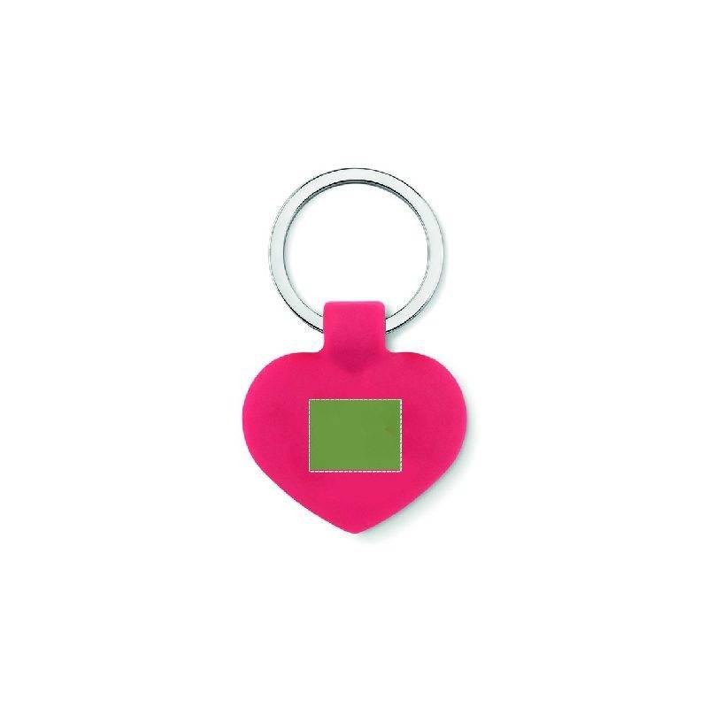 Llavero moneda con forma de corazón 2