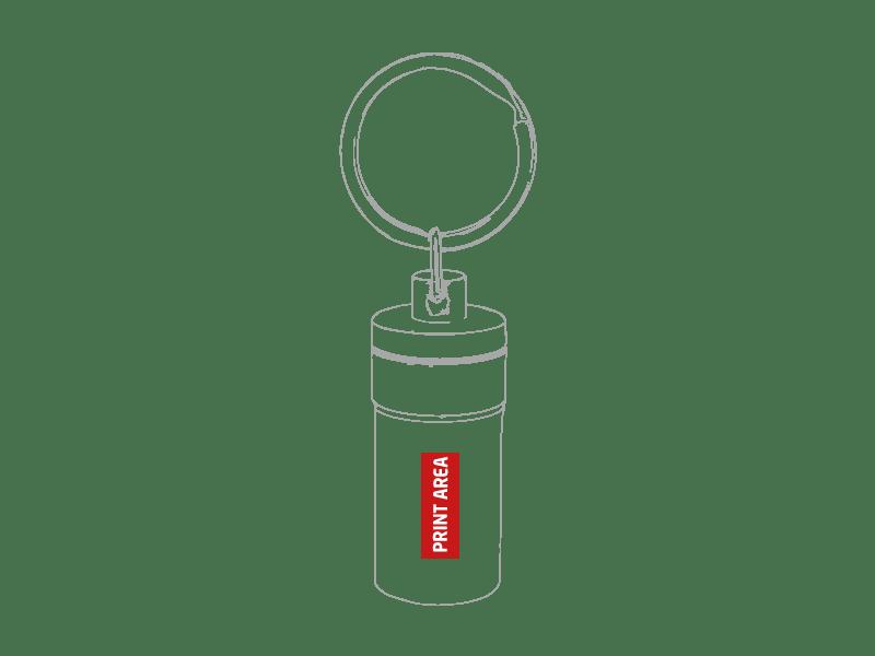 Llavero pastillero de aluminio 1