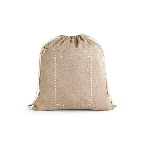 Mochila de algodón reciclado con cremallera 1