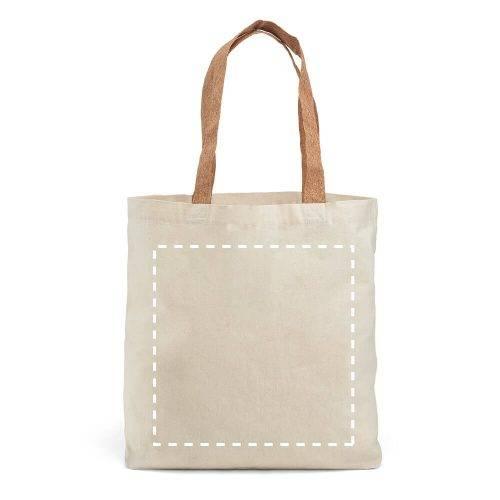 Bolsa de algodón con asas de corcho 1