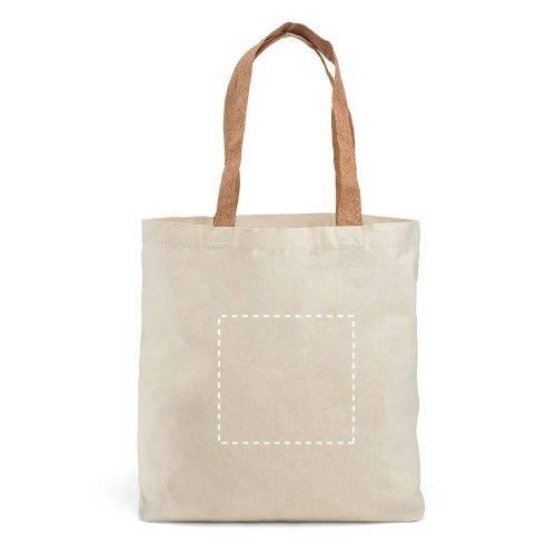 Bolsa de algodón con asas de corcho 2