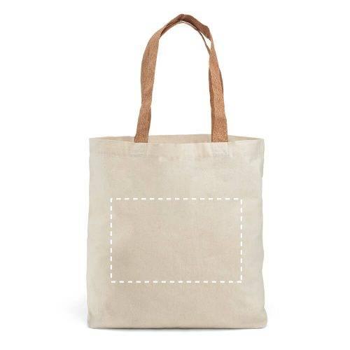 Bolsa de algodón con asas de corcho 3