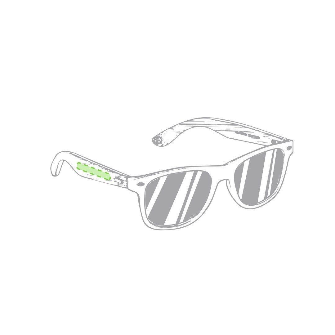 Gafas de sol con patilla de bambú 1