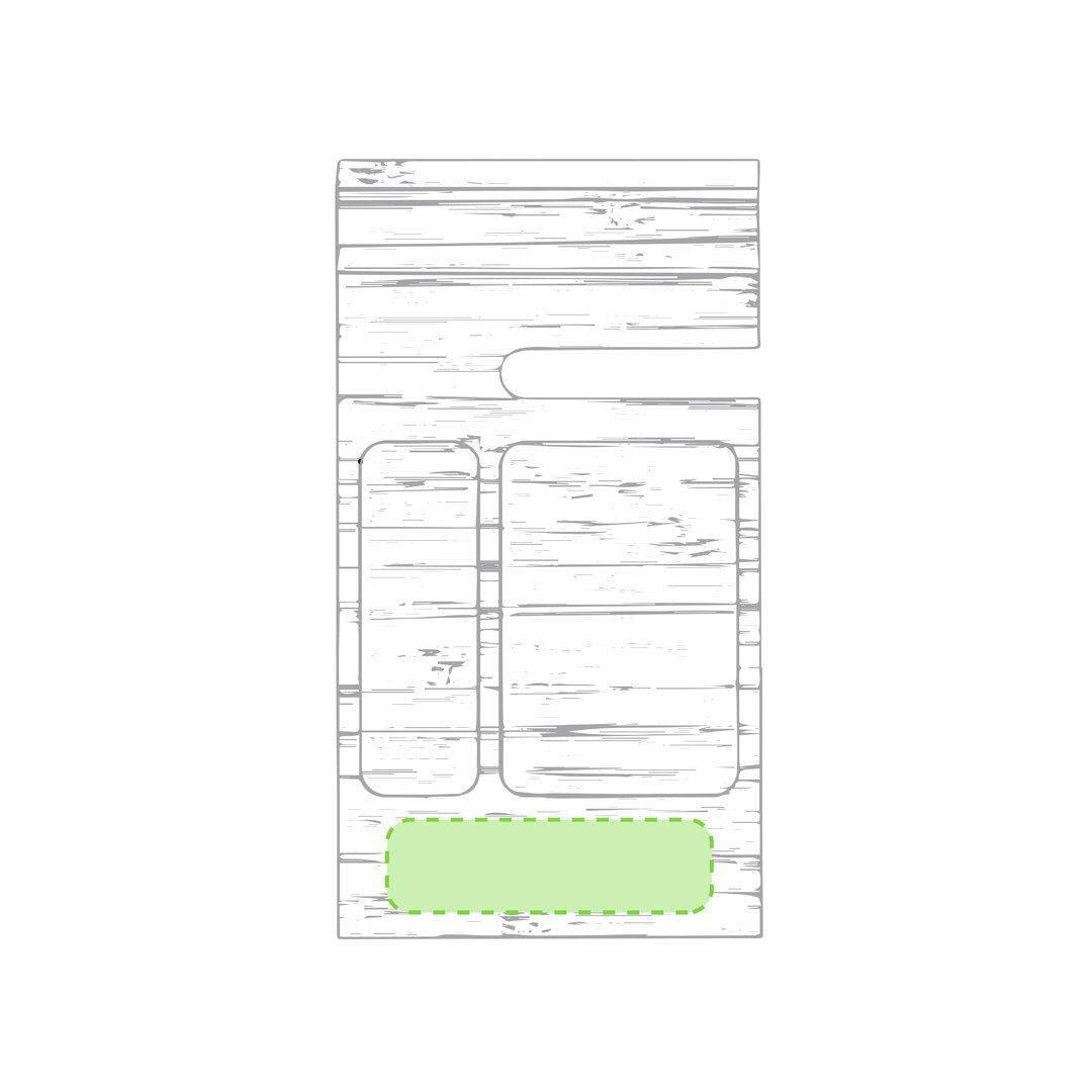 Organizador de mesa de bambú 1