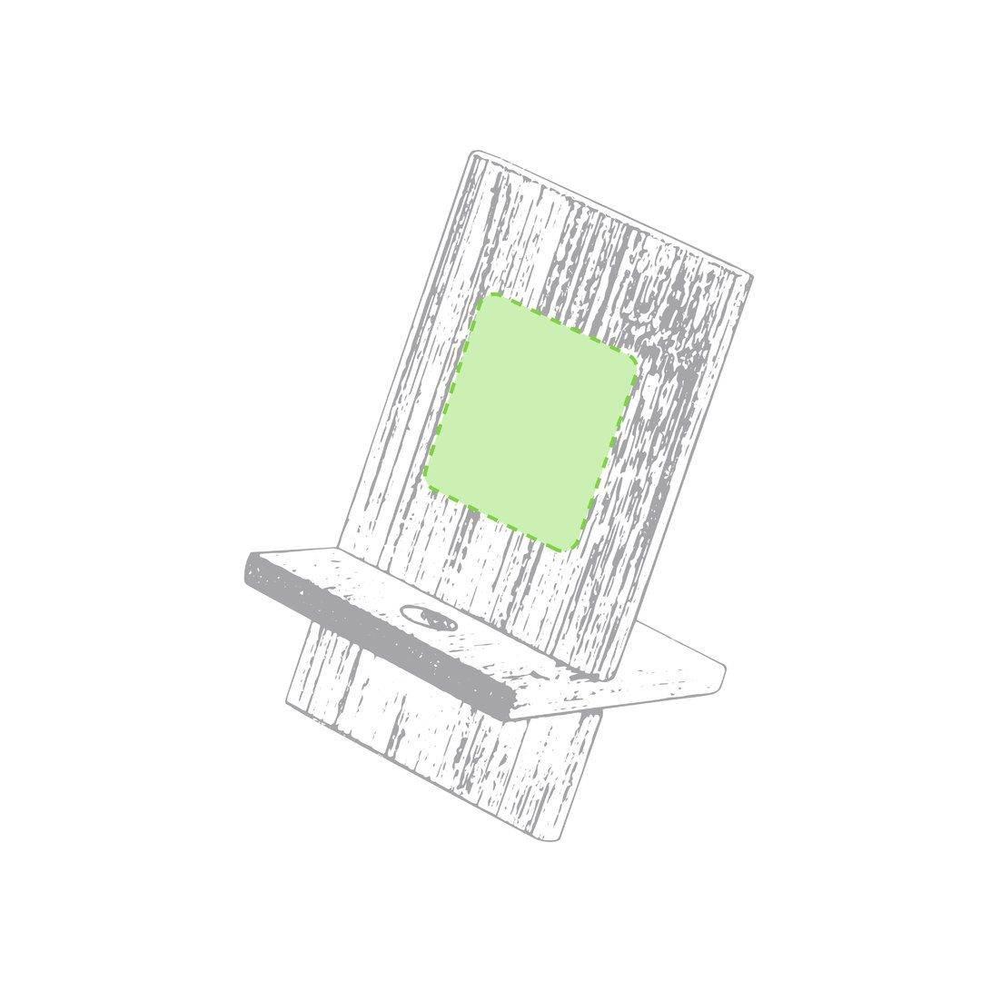 Soporte de bambú para móvil 1