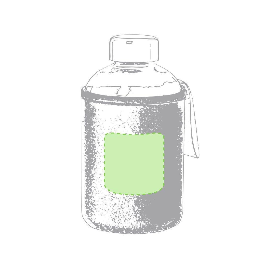 Botella de cristal con funda soft shell 1