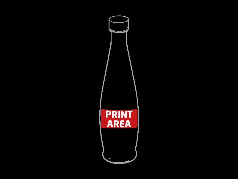 Botella de cristal transparente 1 litro 2