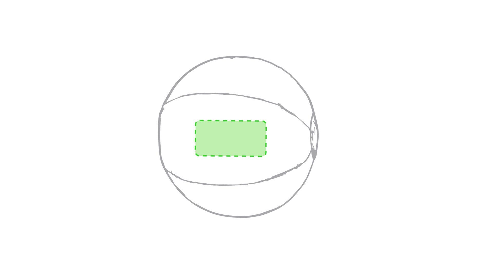 Balón de playa transparente 1