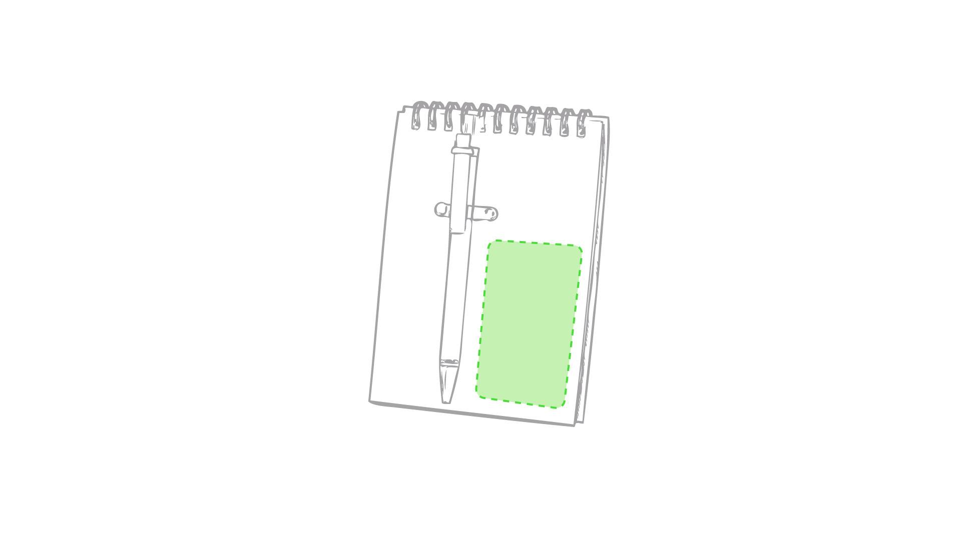 Libreta de cartón reciclado con bolígrafo 1