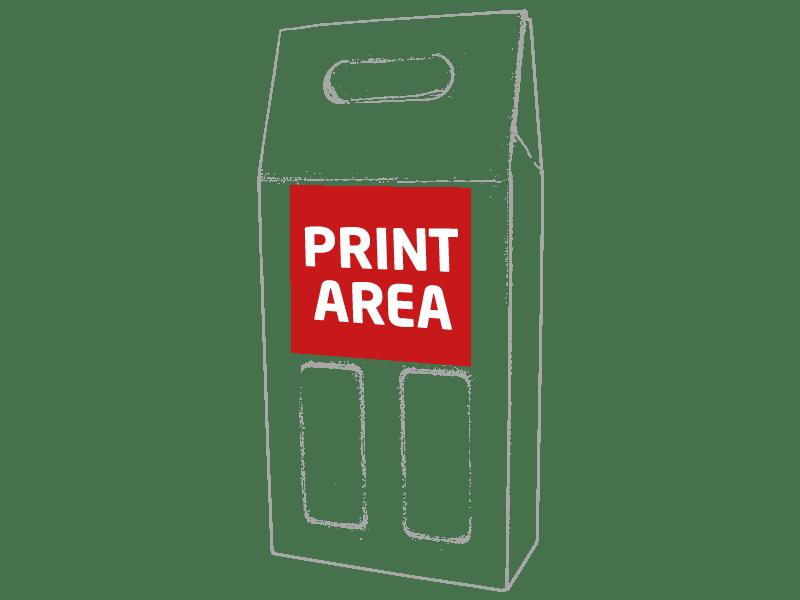 Caja de cartón para 2 botellas 1