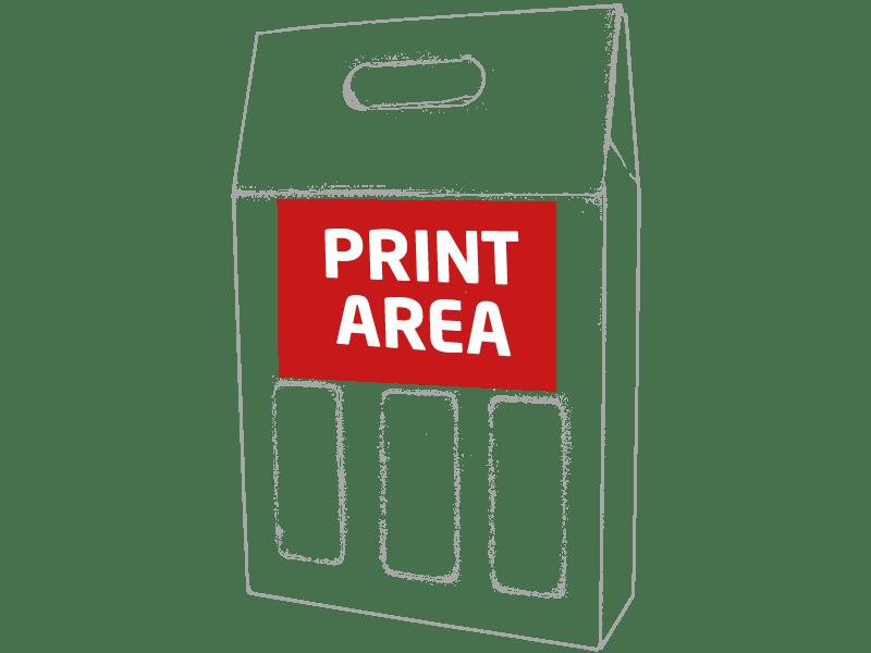Caja de cartón para 3 botellas 1