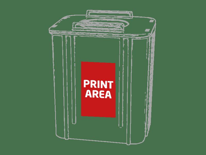 Portalapiceros reciclaje contenedor azul 1