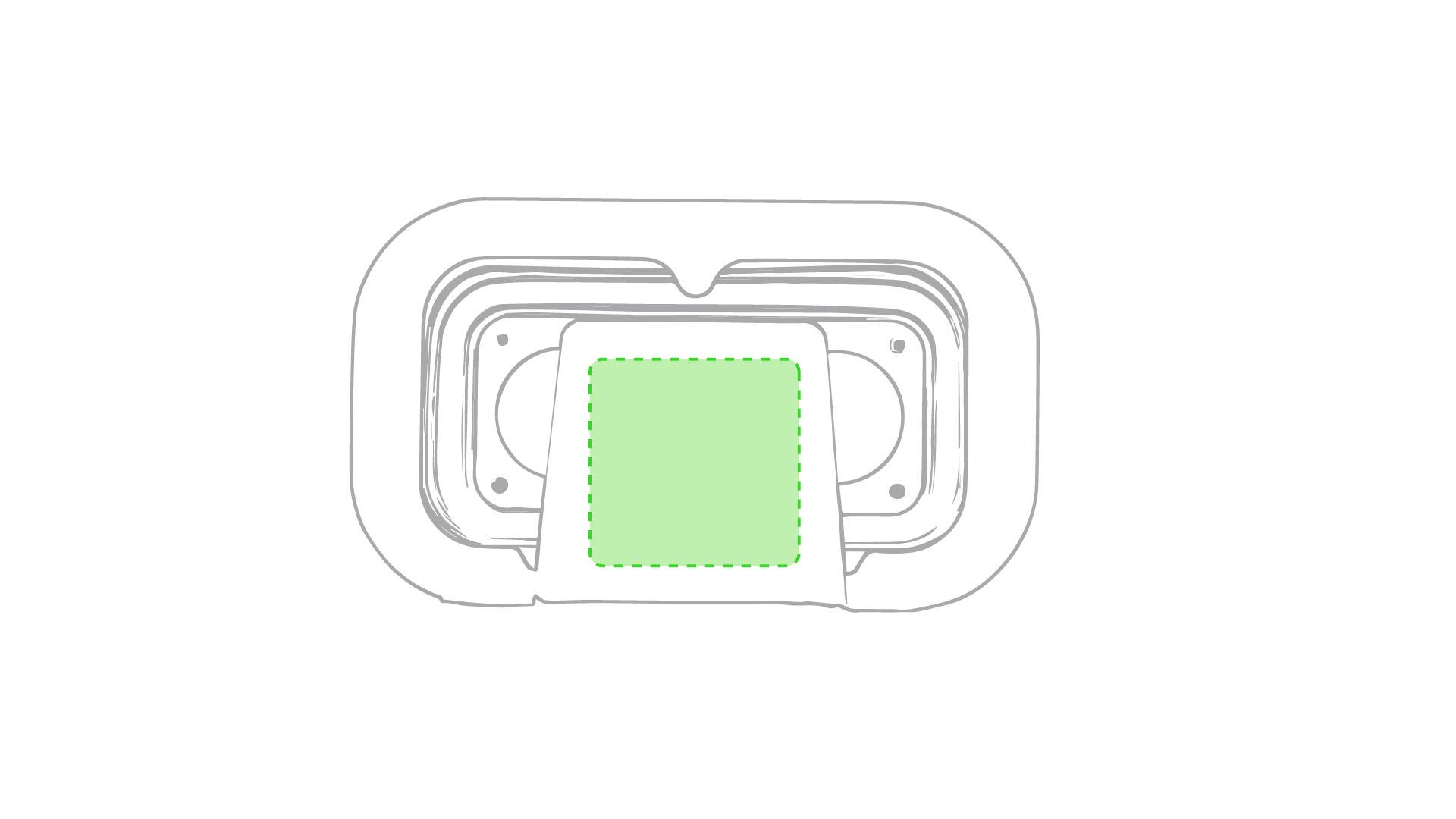 Gafas de realidad virtual de silicona 1