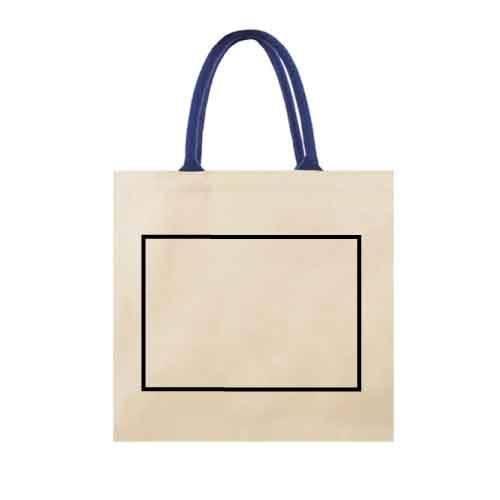 Bolsa de algodón con asa reforzada 1