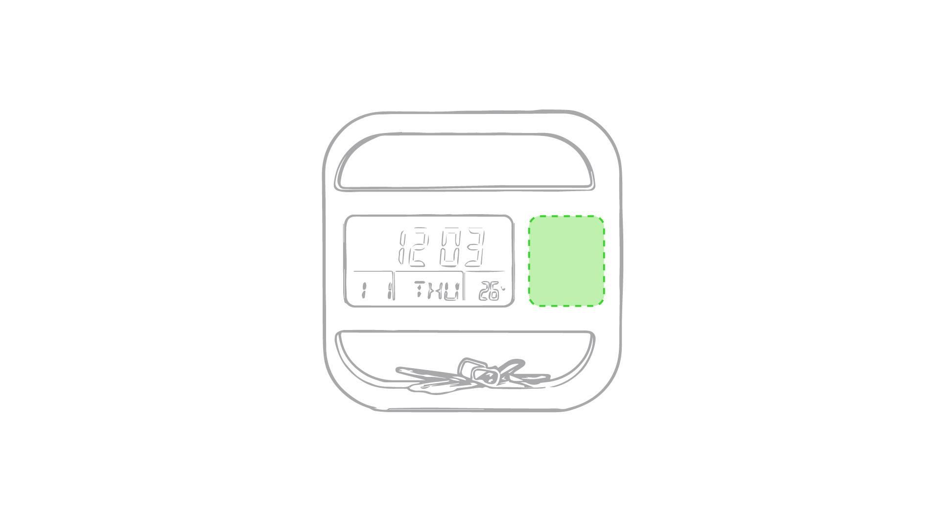 Reloj de escritorio con clips 1