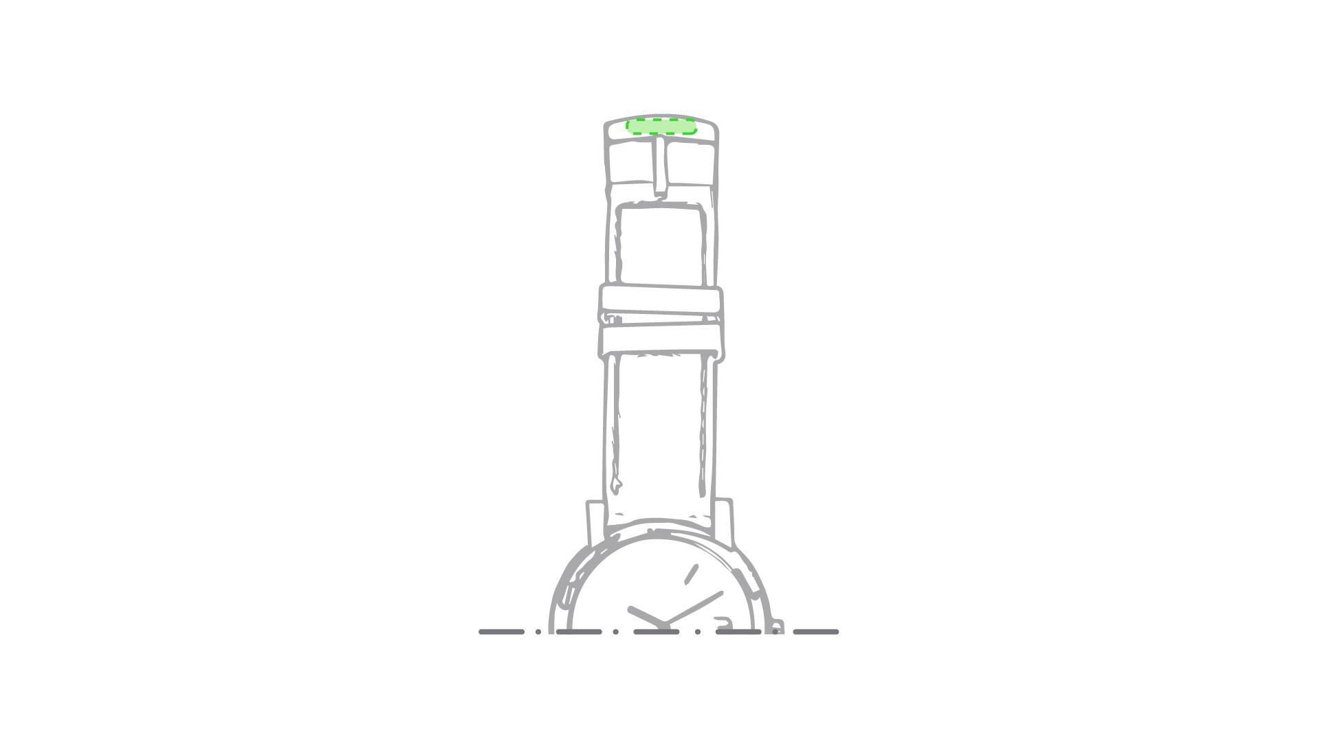 Reloj analógico con correa de silicona 2