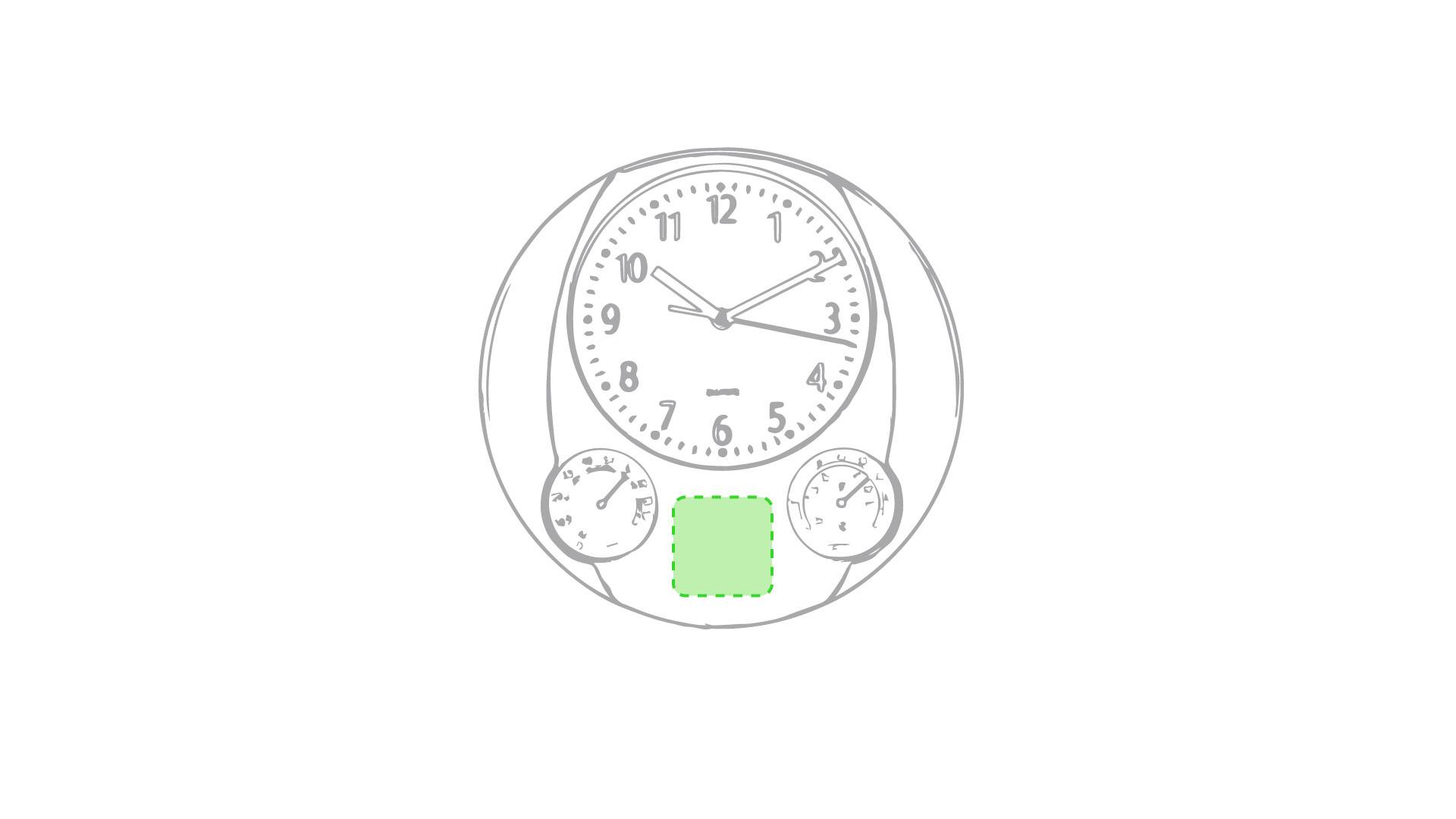 Reloj de pared con termómetro 1