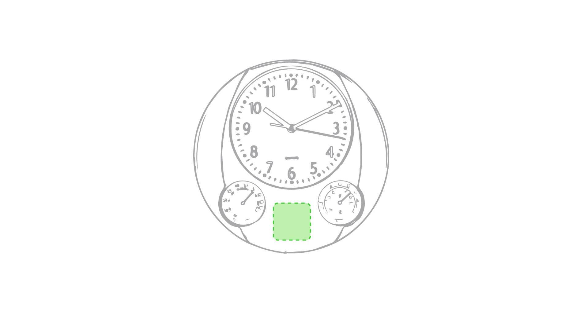 Reloj de pared con termómetro 2