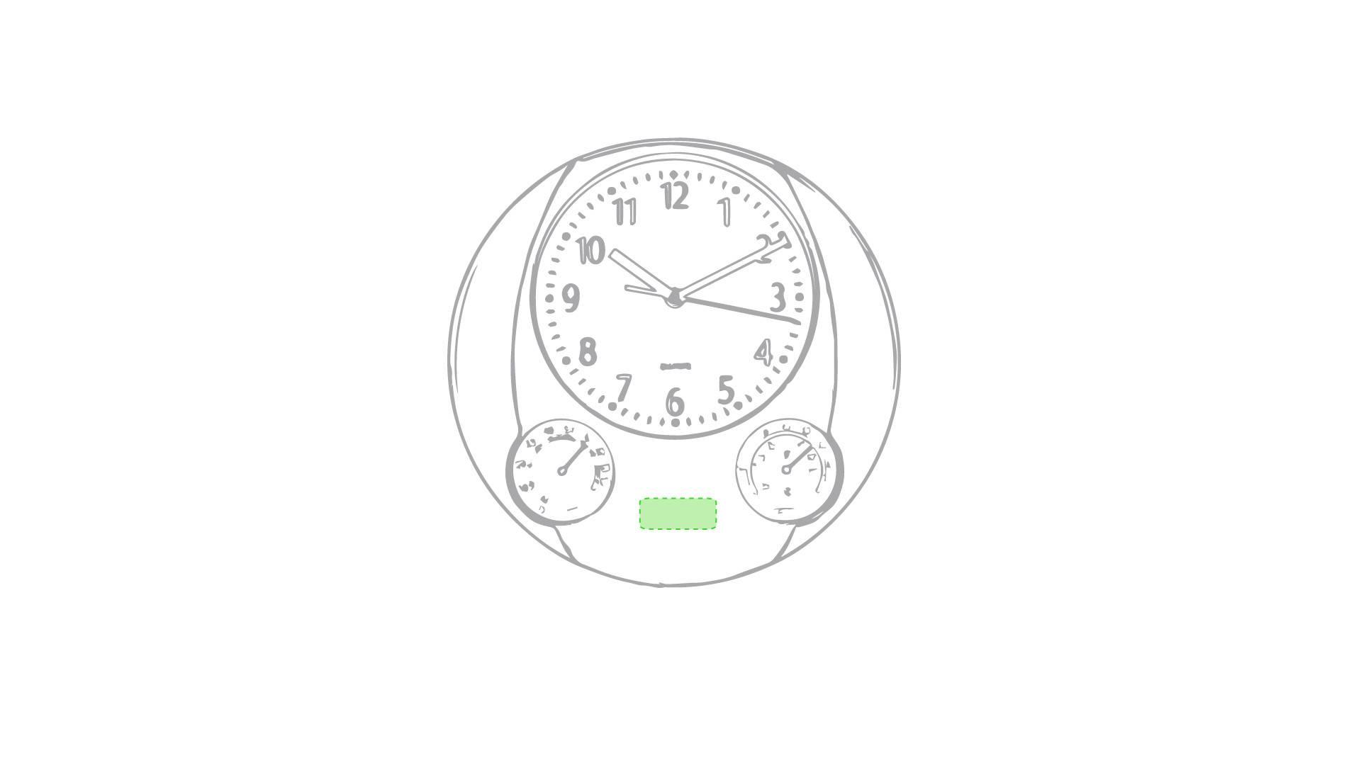 Reloj de pared con termómetro 4