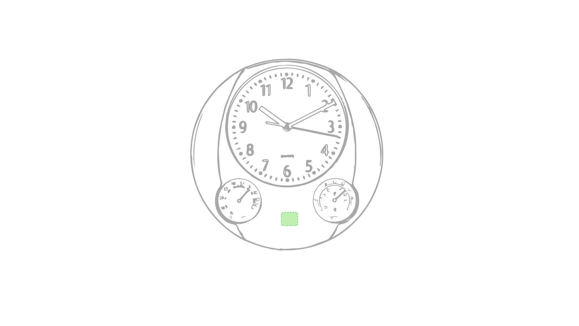 Reloj de pared con termómetro 5
