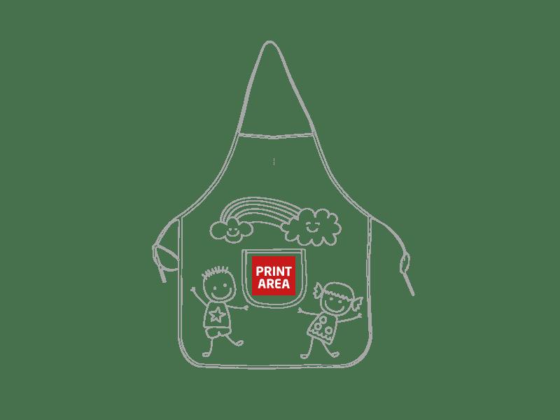 Delantal infantil para pintar 1