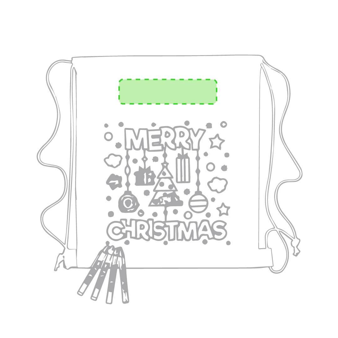 Mochila navideña para pintar 1