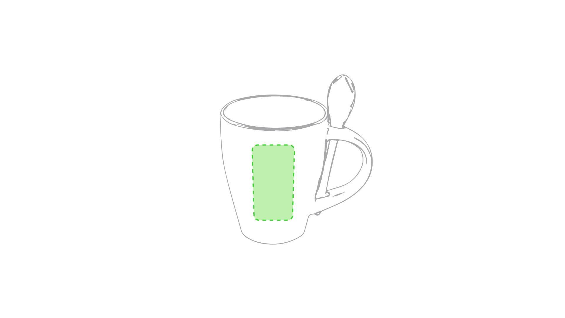 Taza bicolor con cuchara 1