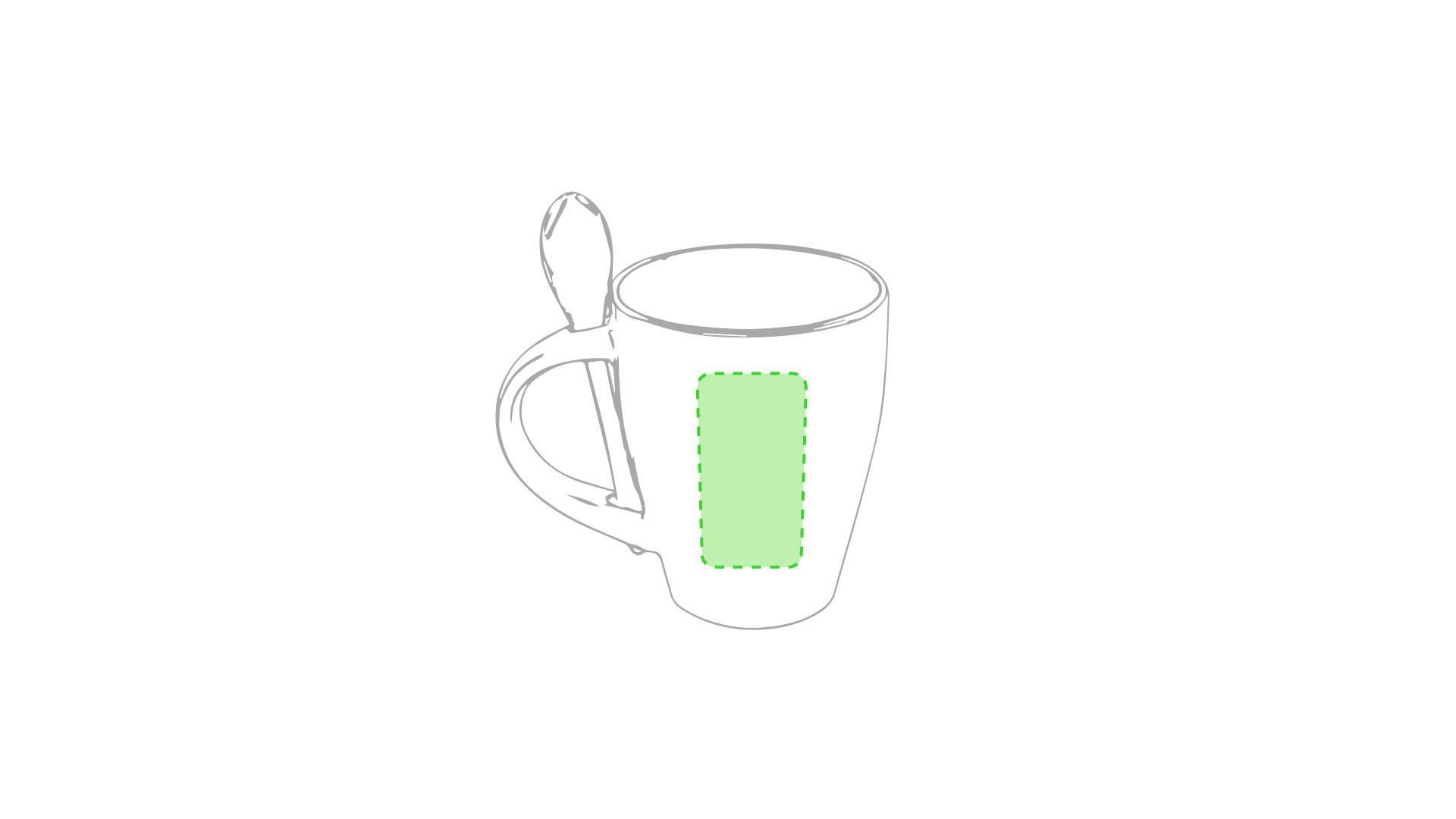 Taza bicolor con cuchara 3