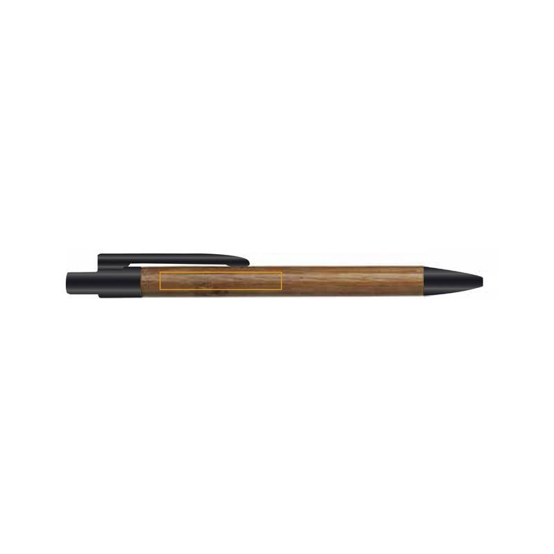 Bolígrafo de bambú con clip 2