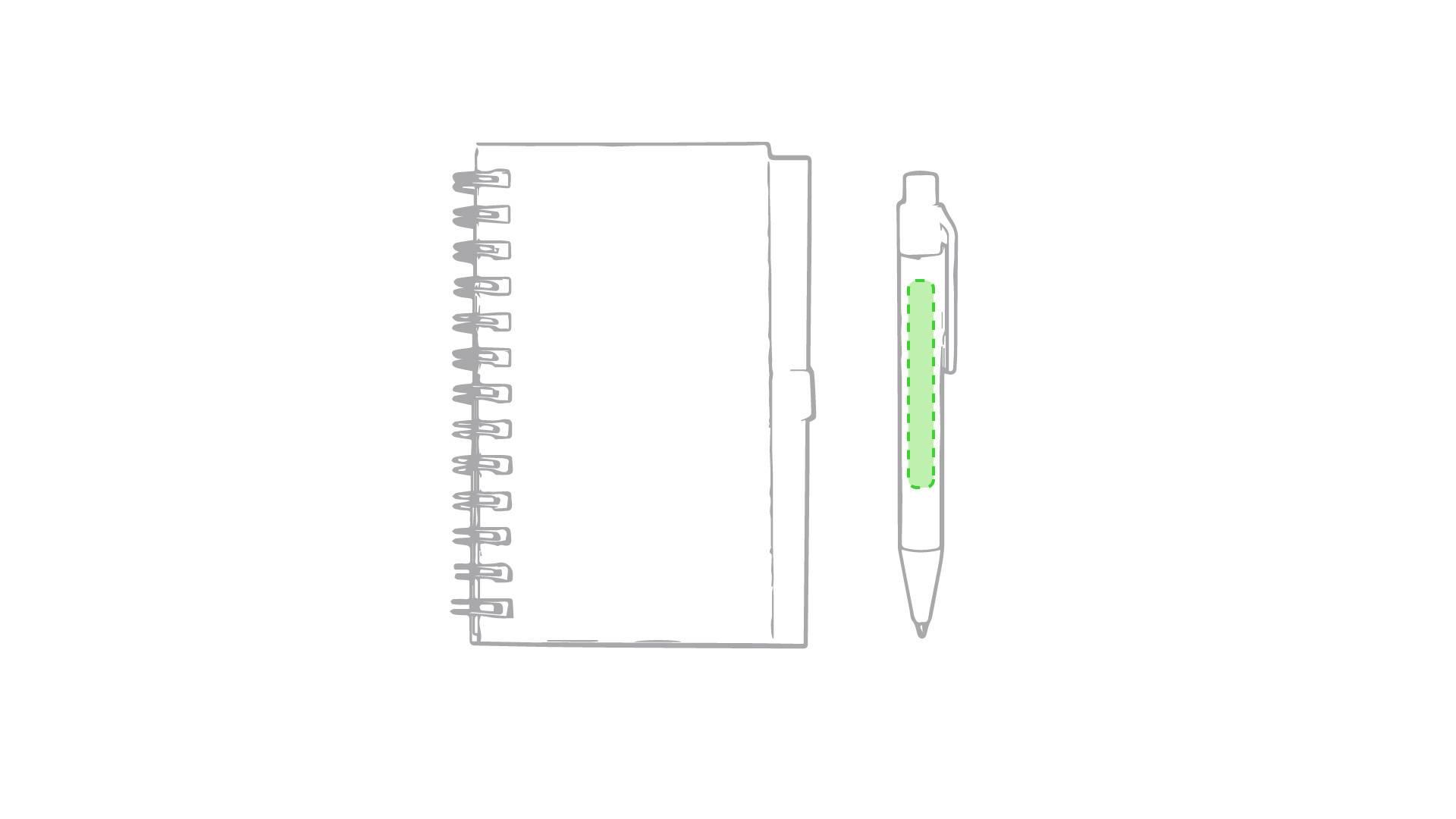 Libreta con bolígrafo de colores 2