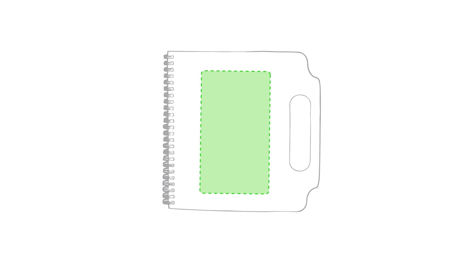 Carpeta con bloc de notas adhesivas 1