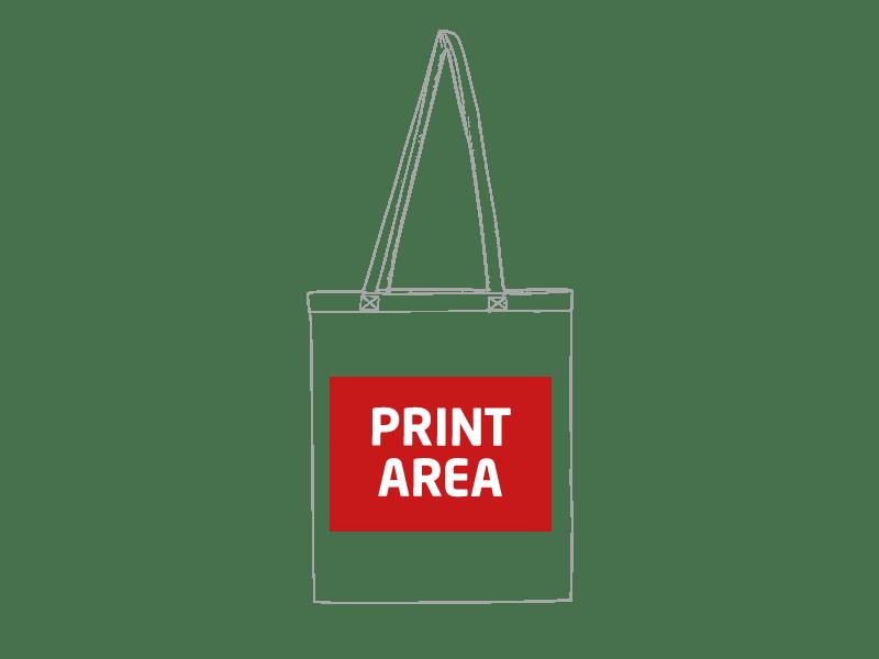 Bolsa de algodón de asa larga de colores 1