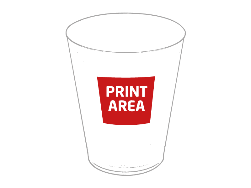 Vaso de polipropileno para eventos 1