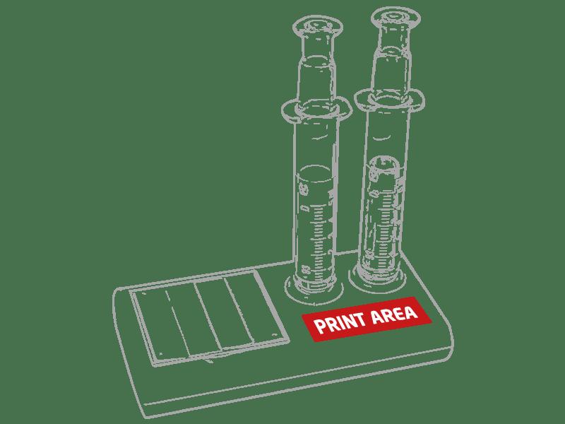 Set de marcadores con forma de jeringa 1