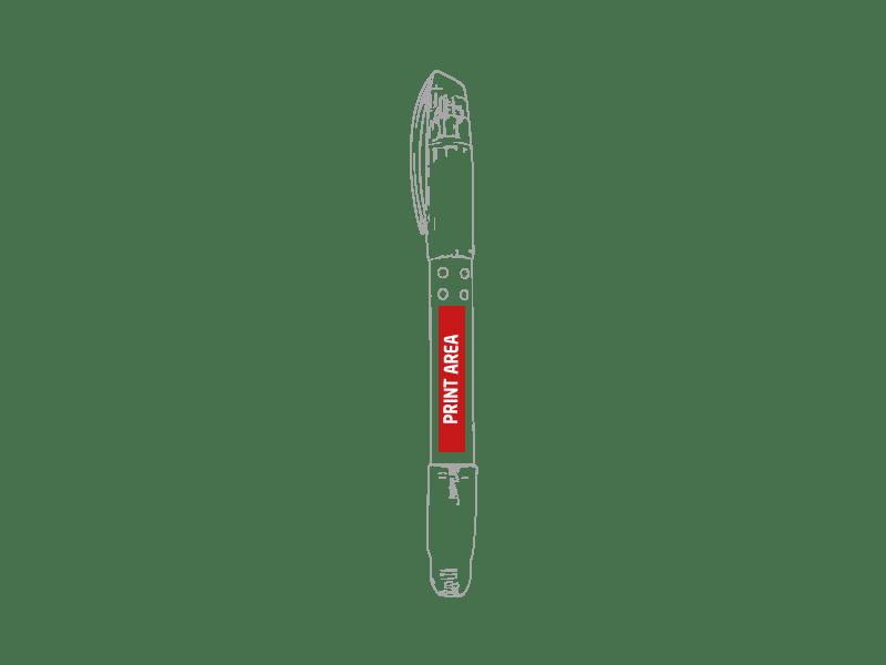 Bolígrafo roller con  marcador fluorescente 2