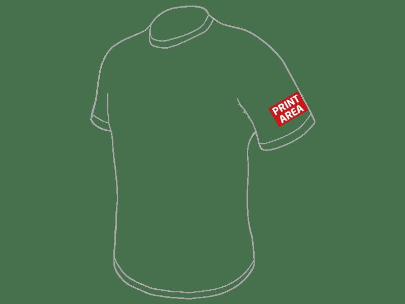 Camiseta técnica de poliéster blanca 4