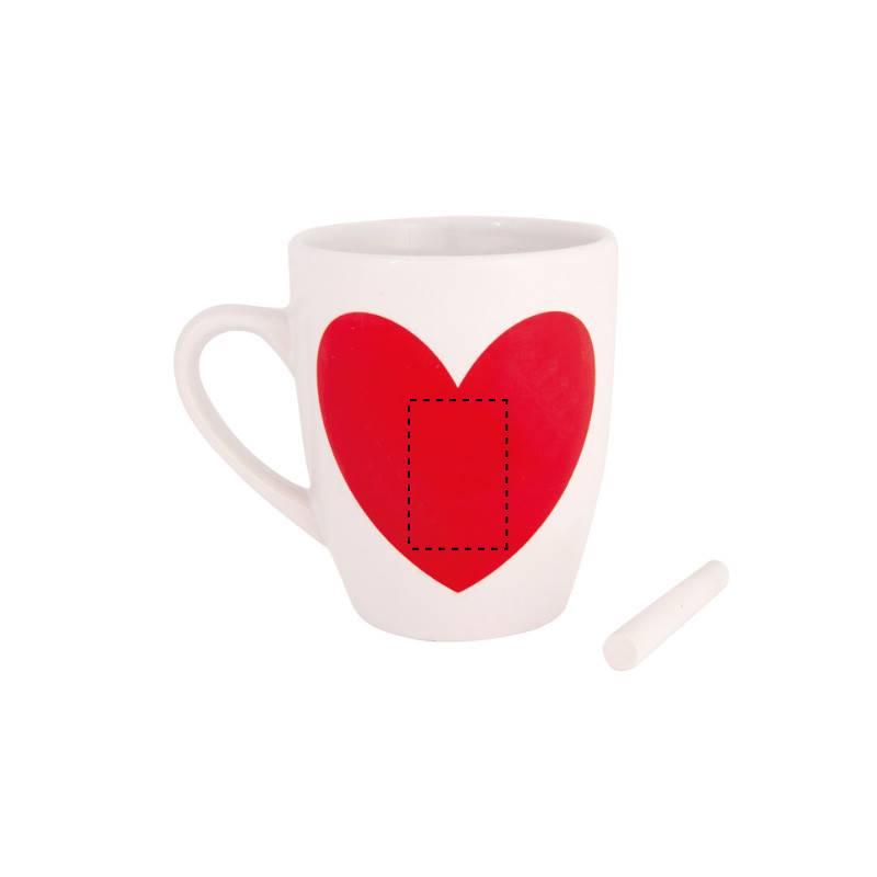 Taza pizarra corazón 1