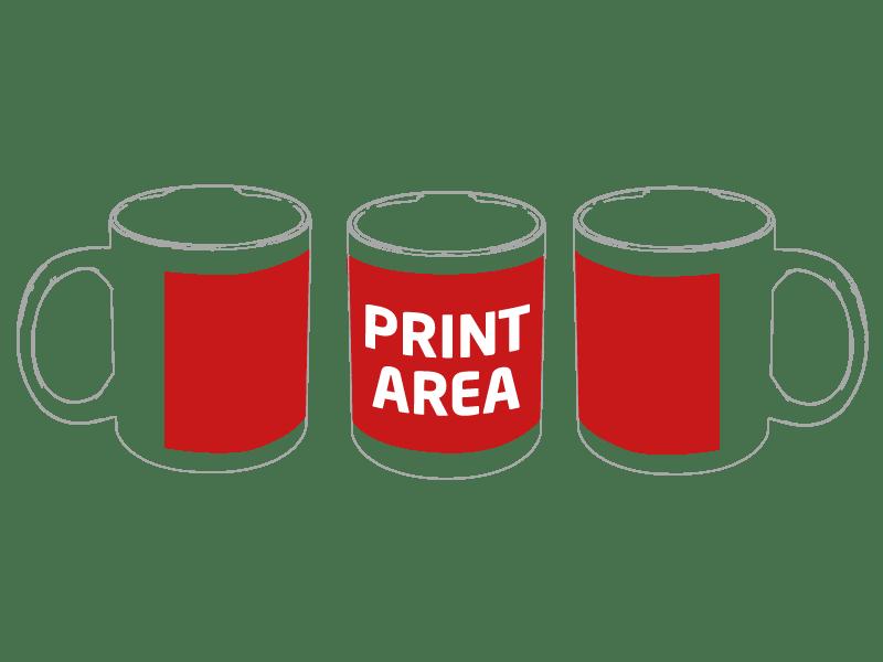 Taza personalizada de cerámica de 350 ml bicolor para sublimación 1