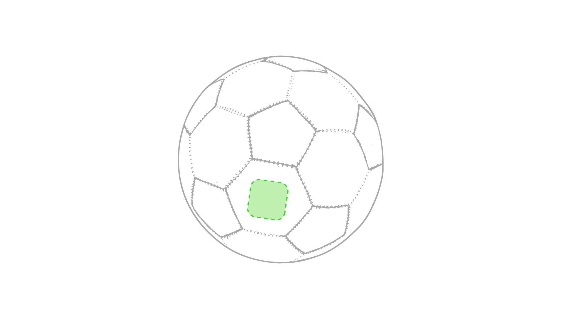 Balón de fútbol clásico 1