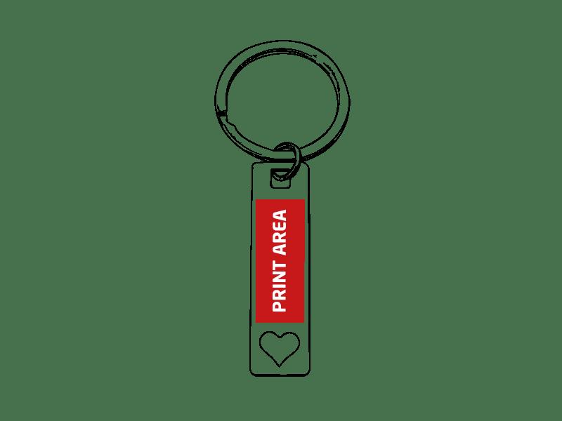 Llavero metálico con corazón 1