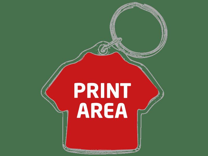 Llavero de ABS con forma de camiseta 1
