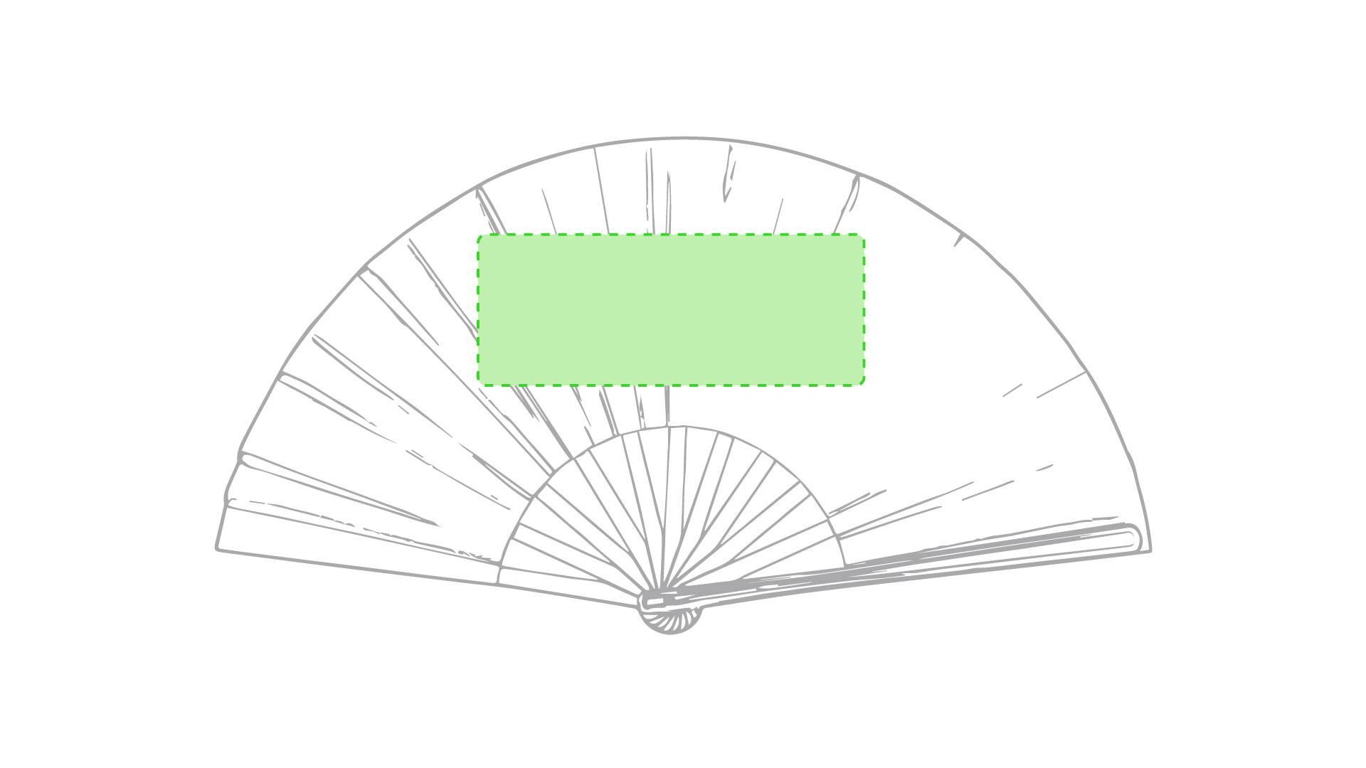 Abanico de plástico maxi 1