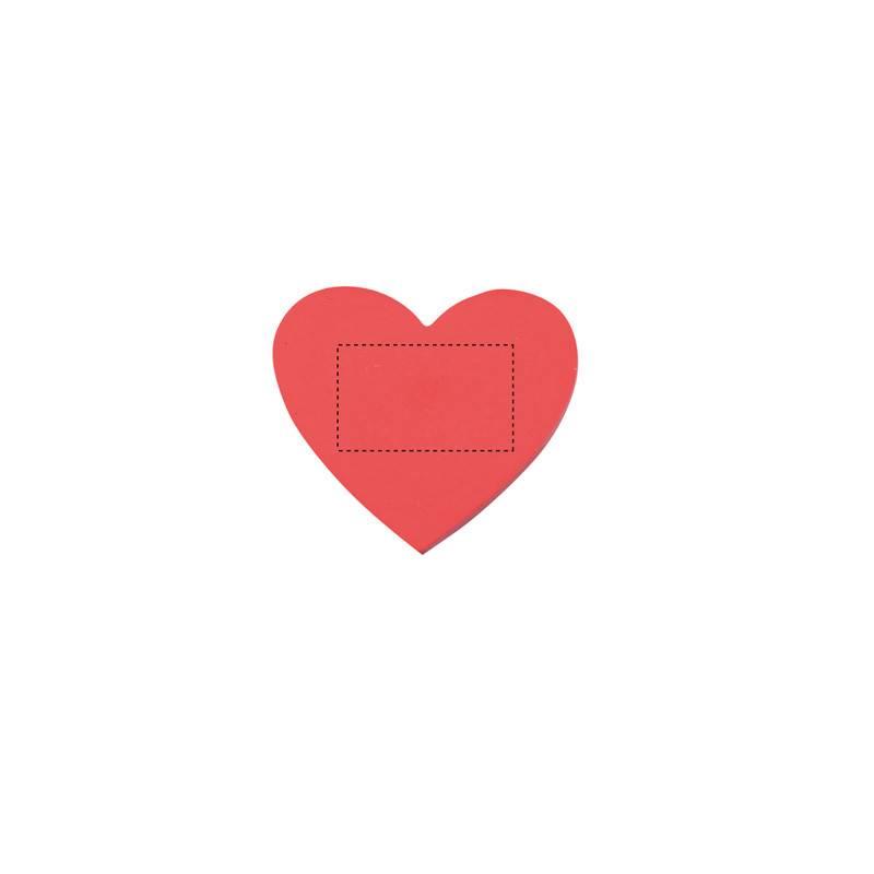 Goma de borrar de corazón 1