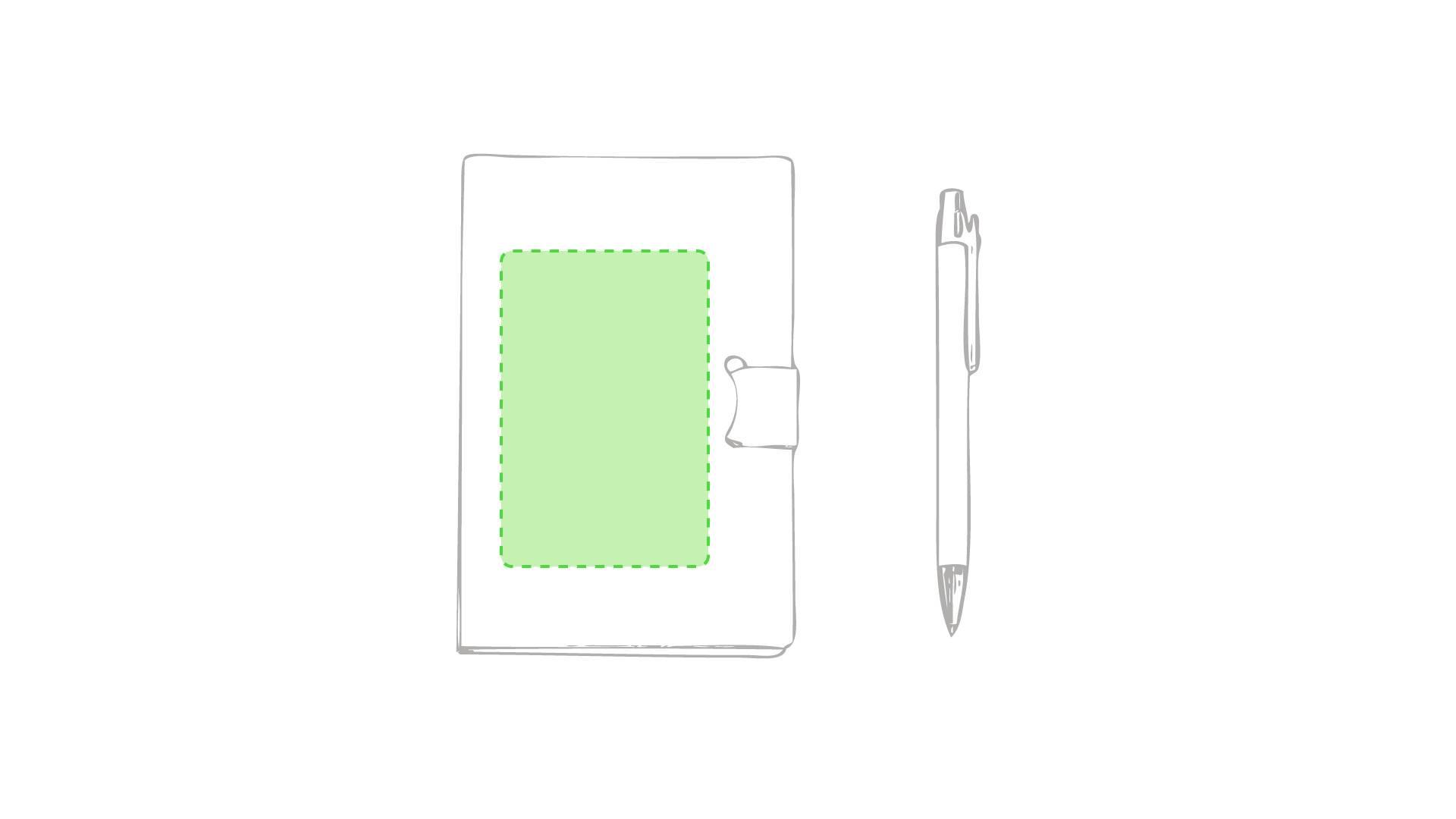 Bloc con notas adhesivas y bolígrafo 1