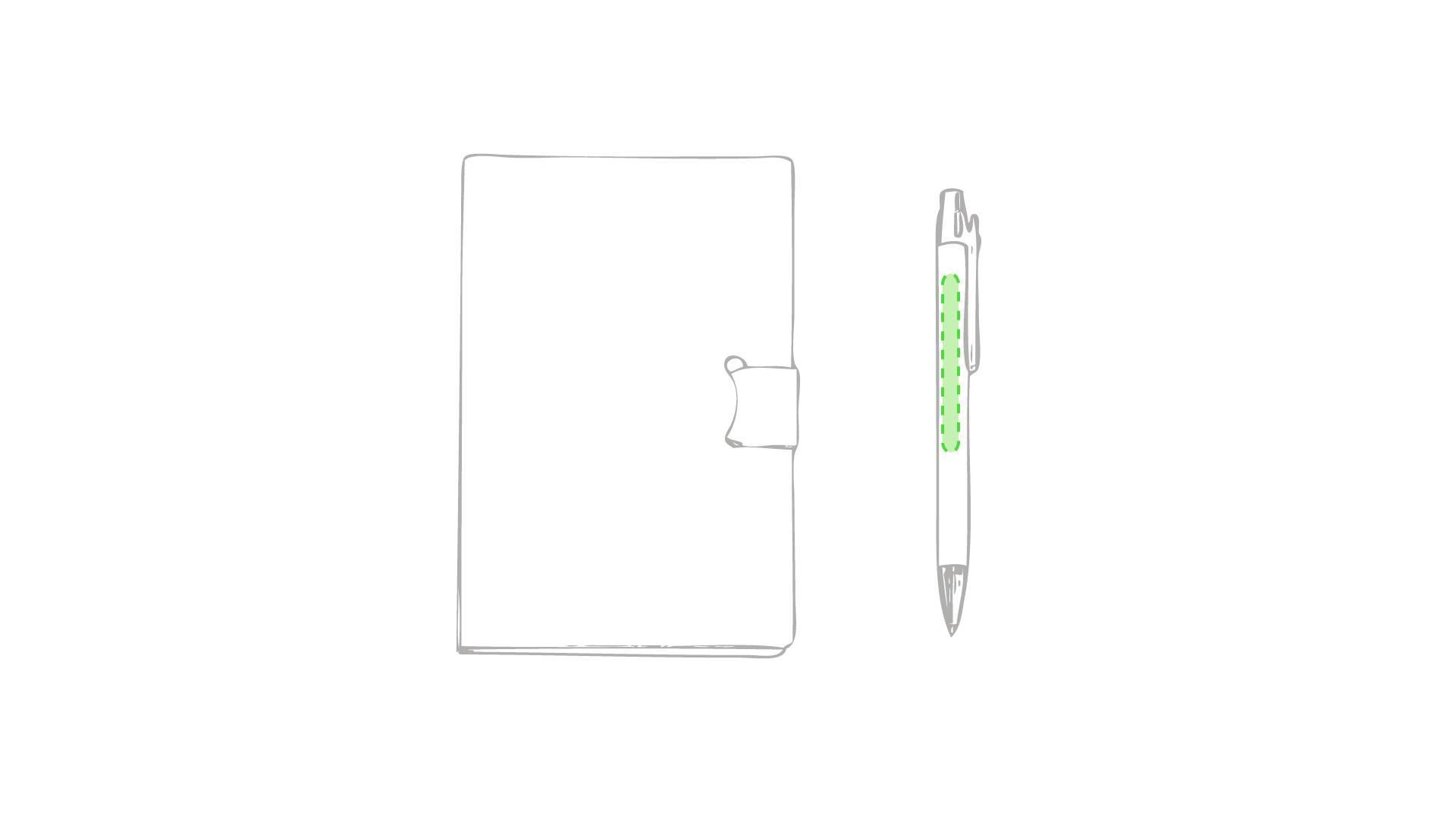 Bloc con notas adhesivas y bolígrafo 2