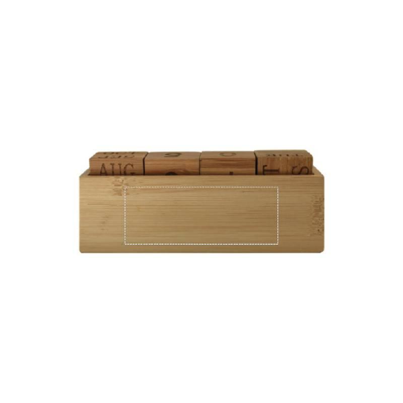 Calendario perpetuo de bambú 1
