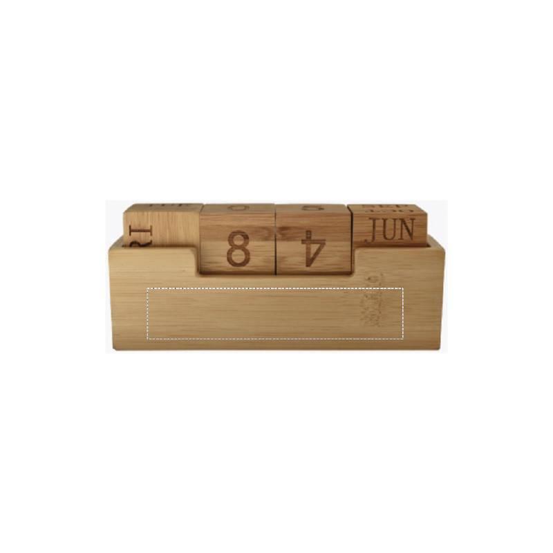 Calendario perpetuo de bambú 2